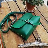 Kabelky - Kožená kabelka Hanna (zelená) - 10919022_
