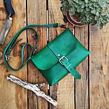 Kožená kabelka Hanna (zelená)
