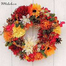Dekorácie - Veniec v jesenných farbách - 10919470_
