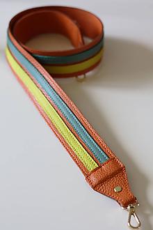 Kabelky - Kožený popruh- VIACFAREBNÝ - 10918433_