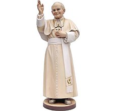 Socha - Pápež Sv. Ján Pavol ll (12cm - Biela) - 10917210_