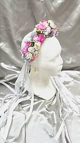 Ozdoby do vlasov - Romantická kvetinová parta - 10919896_