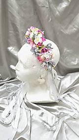 Ozdoby do vlasov - Romantická kvetinová parta - 10919897_