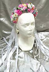 Ozdoby do vlasov - Romantická kvetinová parta - 10919898_