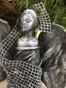 Socha - Socha anjela v odtieni metal - 10918302_