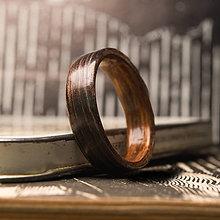 Prstene - Drevená obrúčka: Santos palisander / KOTO - 10918882_