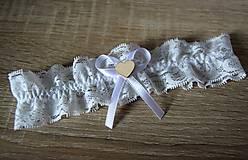 Bielizeň/Plavky - svadobný podväzok - 10919937_