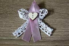 Pierka - svadobné pierka s čipkou a srdiečkom - 10919979_