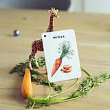 Hračky - Kartičky Zelenina - 10917158_