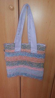 Veľké tašky - Taška - ručne tkaná textília 1 - 10918184_