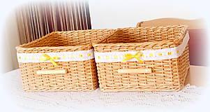 Košíky - Košík prírodný s madeirou - 10918266_