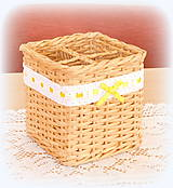 Košíky - Košík na príbory - prírodný 2 - 10918310_