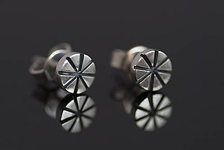 Náušnice - Náušnice vzorované krúžky (hviezdy) - 10919914_