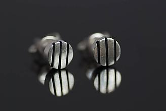 Náušnice - Náušnice vzorované krúžky (linky) - 10919931_