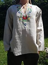 Oblečenie - Ručne vyšívaná košeľa - 10917608_