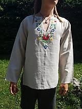 Oblečenie - Ručne vyšívaná košeľa - 10917609_