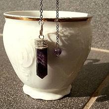 Iné šperky - Kyvadlo *Ametystové*, Kn4 - 10922370_