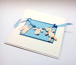 Papiernictvo - Pohľadnica ... A je to chlapček - 10921730_