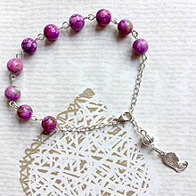 Náramky - Sugilite Silver AG925 Rosary / Strieborný ruženec na ruku alebo do auta so šugilitom - 10920924_
