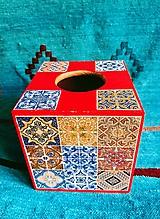 """Krabičky - Box na vreckovky """"Maroko Red"""" - 10920513_"""