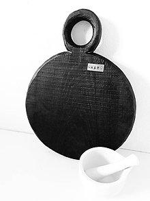 Pomôcky - Čierny dubový lopár k&m dizajn - 10920275_