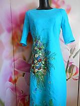 """Šaty - Ľanové maľované šaty """"Lúčna kytica II. """" - 10922070_"""