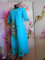"""Šaty - Ľanové maľované šaty """"Lúčna kytica II. """" - 10922074_"""