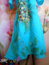 """Šaty - Ľanové maľované šaty """"Lúčna kytica II. """" - 10922083_"""