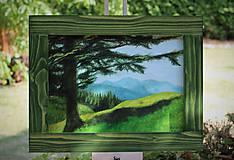 Obrazy - Strom a hory - 10921827_