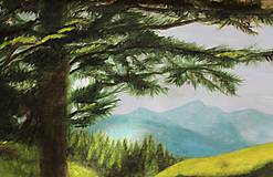 Obrazy - Strom a hory - 10921830_