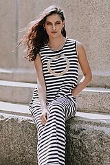 Šaty - FNDLK úpletové šaty 415 BLo dlouhé - 10920781_