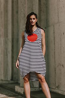 Šaty - FNDLK úpletové šaty 416 BK - 10920790_
