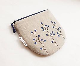 Peňaženky - Peňaženka/dokladovka - Trnky (natur 100%ľan) - 10921315_