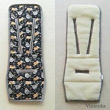 Textil - VLNIENKA podložka do kočíka THULE 100% MERINO wool  LEŇOCHOD - 10921816_