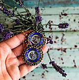 Náušnice - Buddha earrings - vyšívané náušnice- vyšívané náušnice - 10920591_