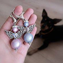 Iné šperky - Mega anjel žiarivý  (Ružový vykamienkovaný) - 10921166_