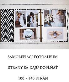 Papiernictvo - Fotoalbum  (samolepiaci 100 strán A4 (strany sa dajú dopĺňať)) - 10921217_
