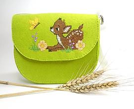 Detské tašky - Moja prvá kabelka (Srnka) - 10921672_
