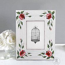 Rámiky - Ručne maľovaný rámček - Ružová záhrada - 10921884_