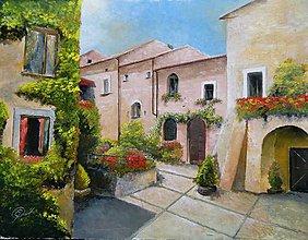 Obrazy - Mediteránska dedinka III - 10920456_