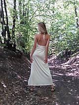 Šaty - SEXY ŠATY - BÍLÁ VISKOZA - 10920351_