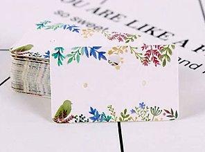 Papier - VI127 Kartička na náušnice 5 x 3 cm - 10921739_