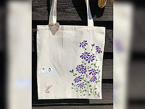 Nákupné tašky - ♥ Plátená, ručne maľovaná taška ♥ - 10922255_