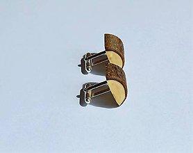 Šperky - Drevené manžetové gombíky - Z lieskovej halúzky - 10921948_