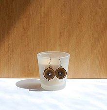 Náušnice - Drevené náušnice - Z sumachovej halúzky - 10921989_