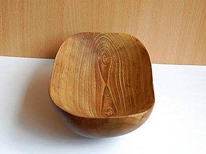 Nádoby - Drevená mištička - Orechová 3 - 10922014_