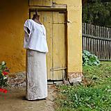 Sukne - Cesty jsou často spletité ... lněná sukně - 10920300_