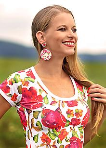Tričká - Tričko LucLac Roses - 10920996_