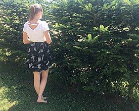 Sukne - Sukňa čierno-biela - 10922602_