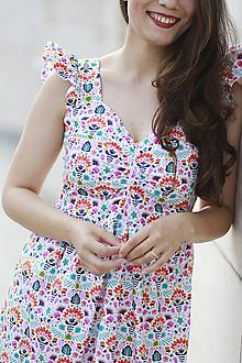 Šaty - Šaty AMÉLIE na dojčenie (folky) - 10920242_